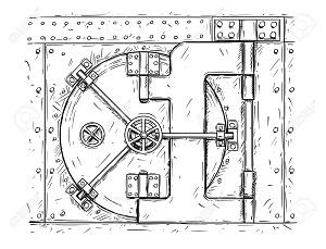 300_94762782-cartoon-vector-doodle-drawing-illustration-of-closed-vault-door-business-concept-of-security-secret- | Приглашаем единомышленников и ищем: художника (sci-fi), программиста (JavaScript + Dart)