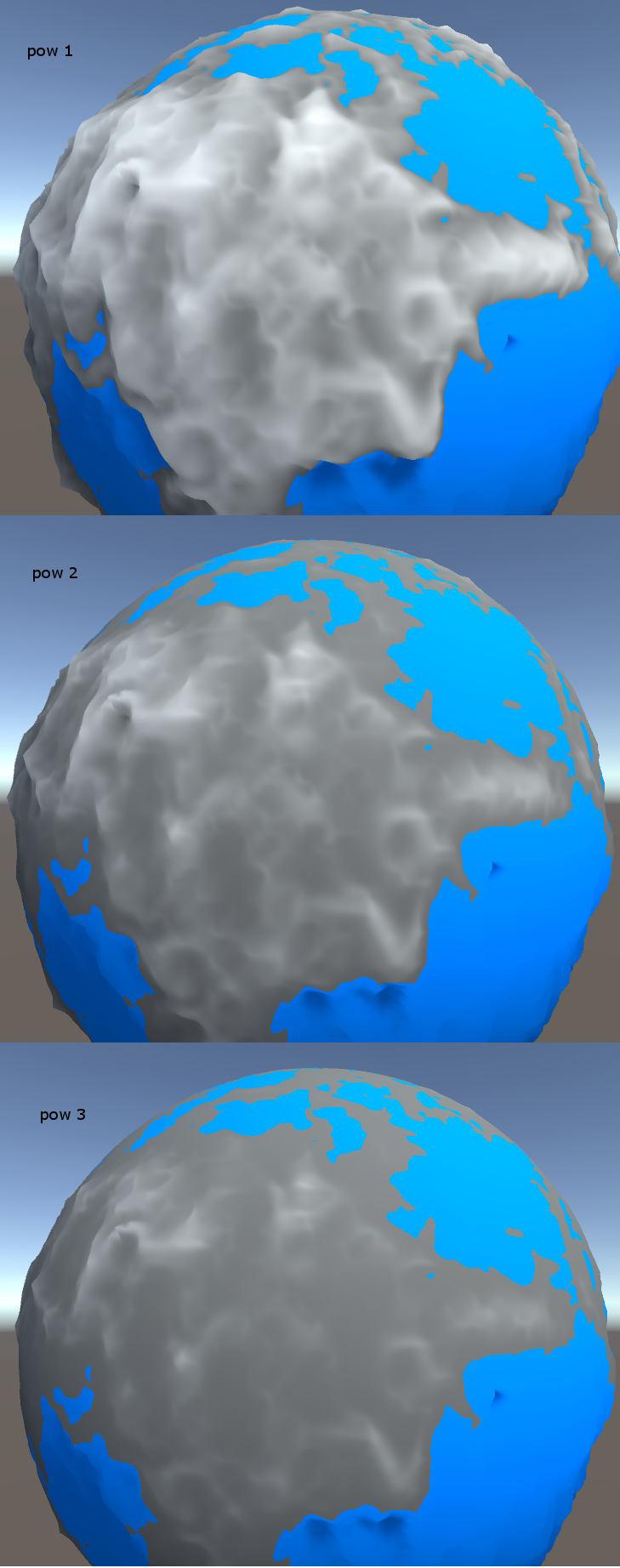 3d vs 2d 0002 | Принципы генерации ландшафтов на сферической поверхности