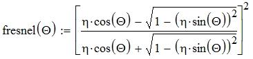 Оригинальная формула вычисления коэффициента Френеля. | Коэффициенты Френеля