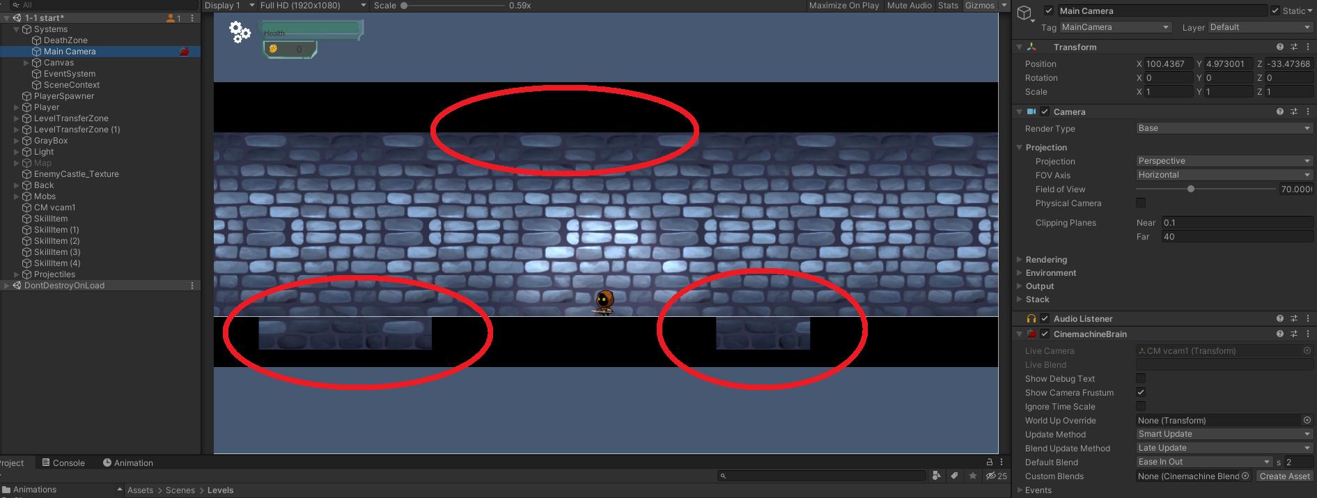 60363b98a932d295744314 | Как решить проблему с камерой (Perspective) в 2Д проекте на Unity?