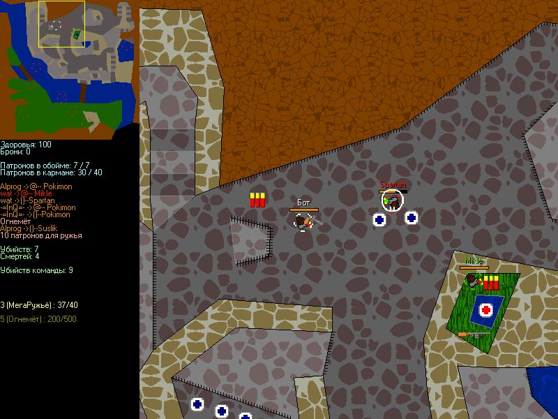 screen | Flat Tournament (версия 29 декабря 2012, отлажен тёмный режим, улучшен ИИ ботов).