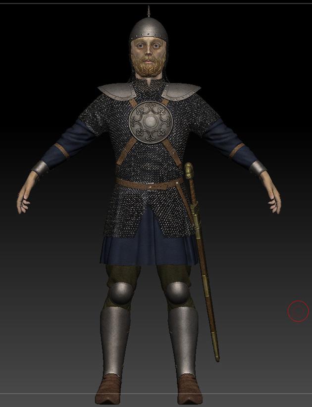 Ratik_Sculpt_Front | 3D модель ратника.
