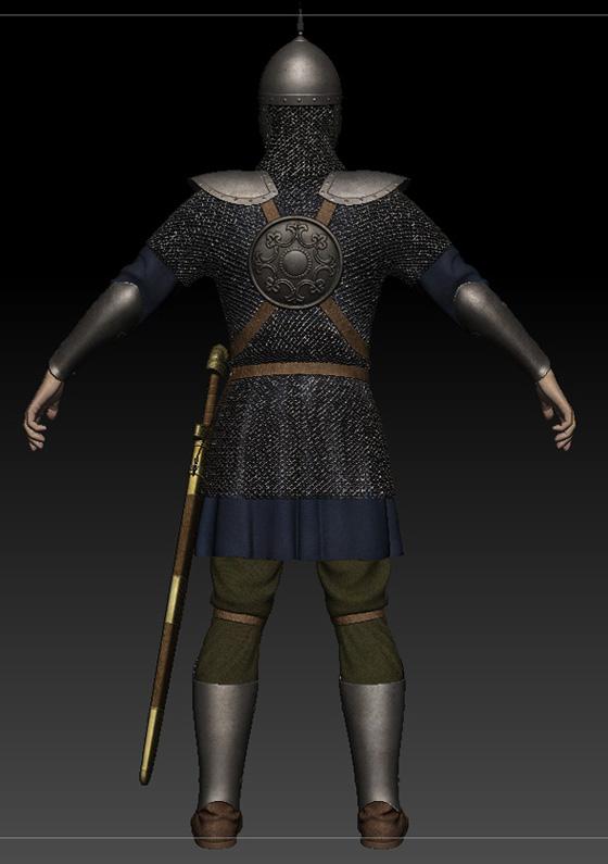 Ratik_Sculpt_Back | 3D модель ратника.