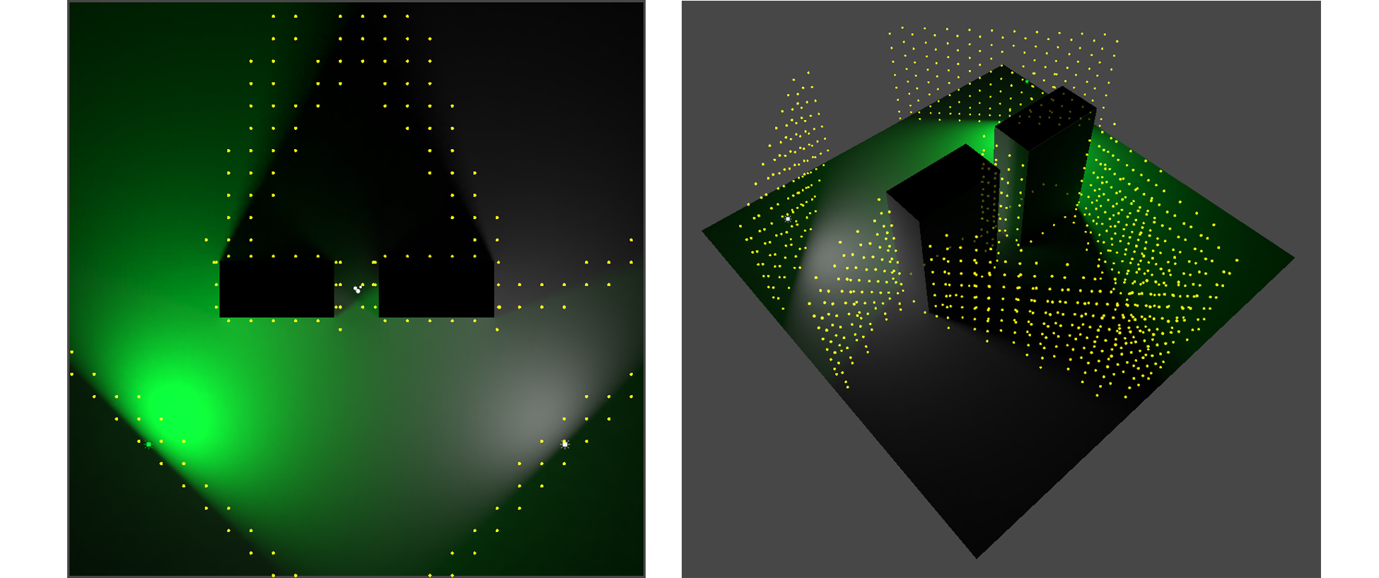 accurate shadows combined | Magic Light Probes