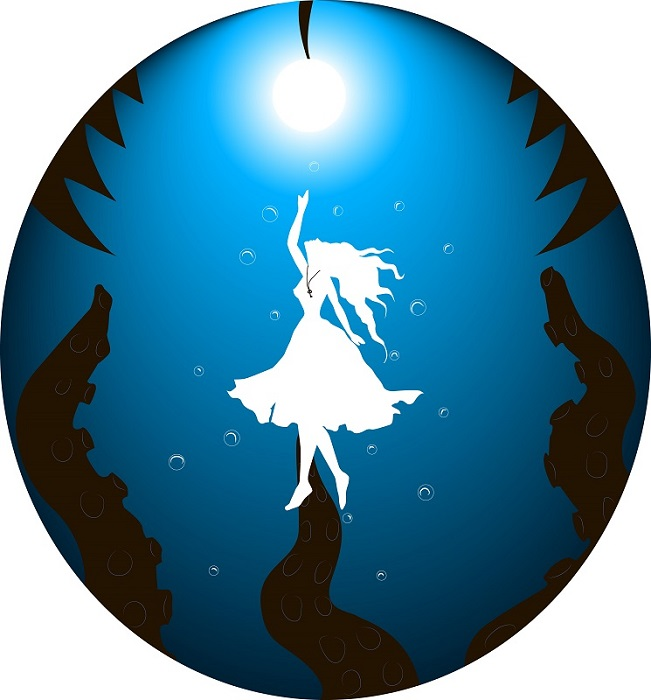 Алиса под водой | Tamagocha рисует