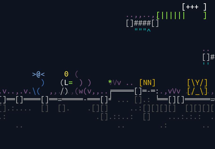 amplifier   Unsigned Character  0.6.0 [ASCII-платформер с процедурной генерацией]