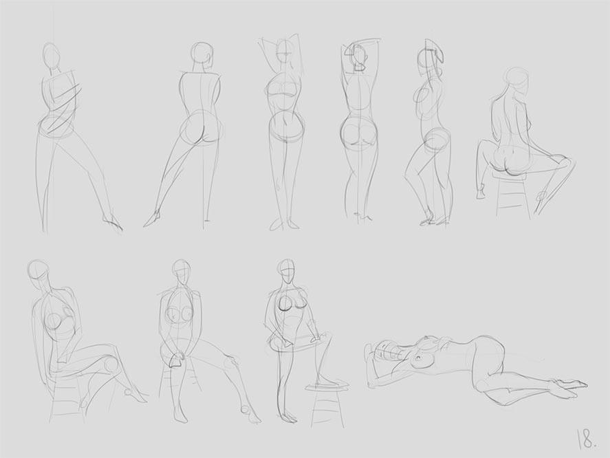 anatomy_figure_01 | Анатомия и дизайн персонажей(18+)