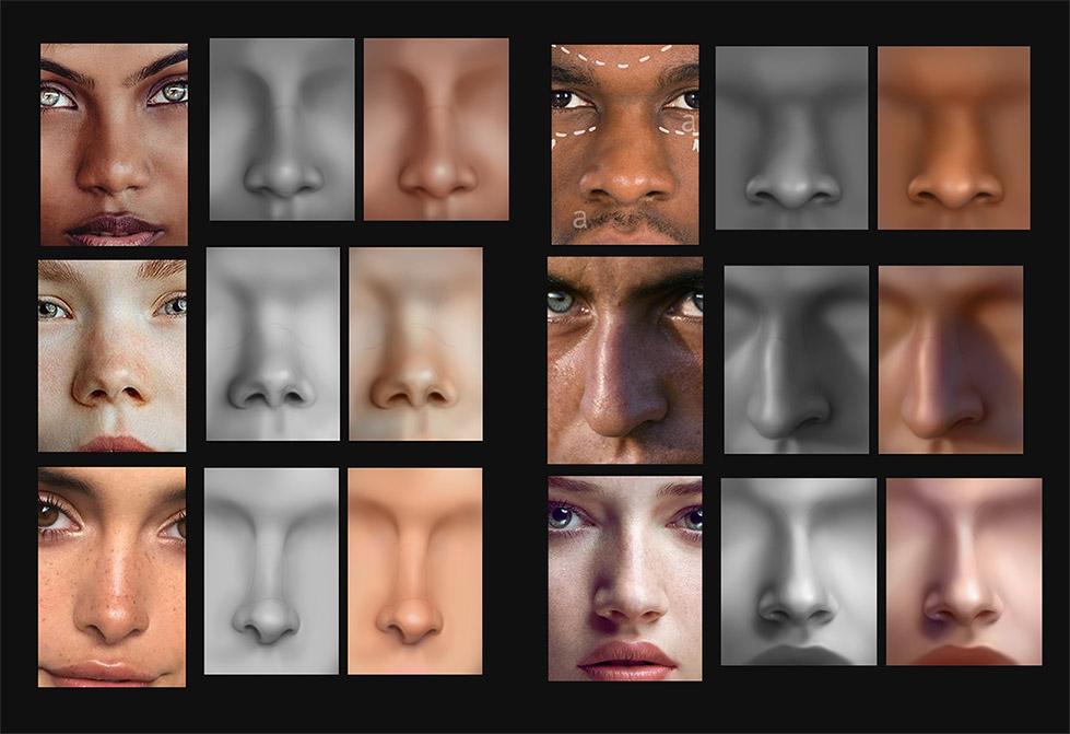 anatomy_noses_04 | Анатомия и дизайн персонажей(18+)