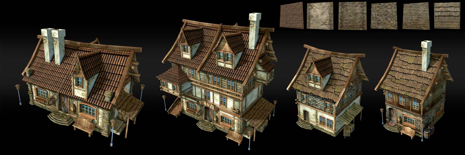 Houses | 3D 2D Artist.Game Low-poly,sculpting (Персонажи,окружение и тд)