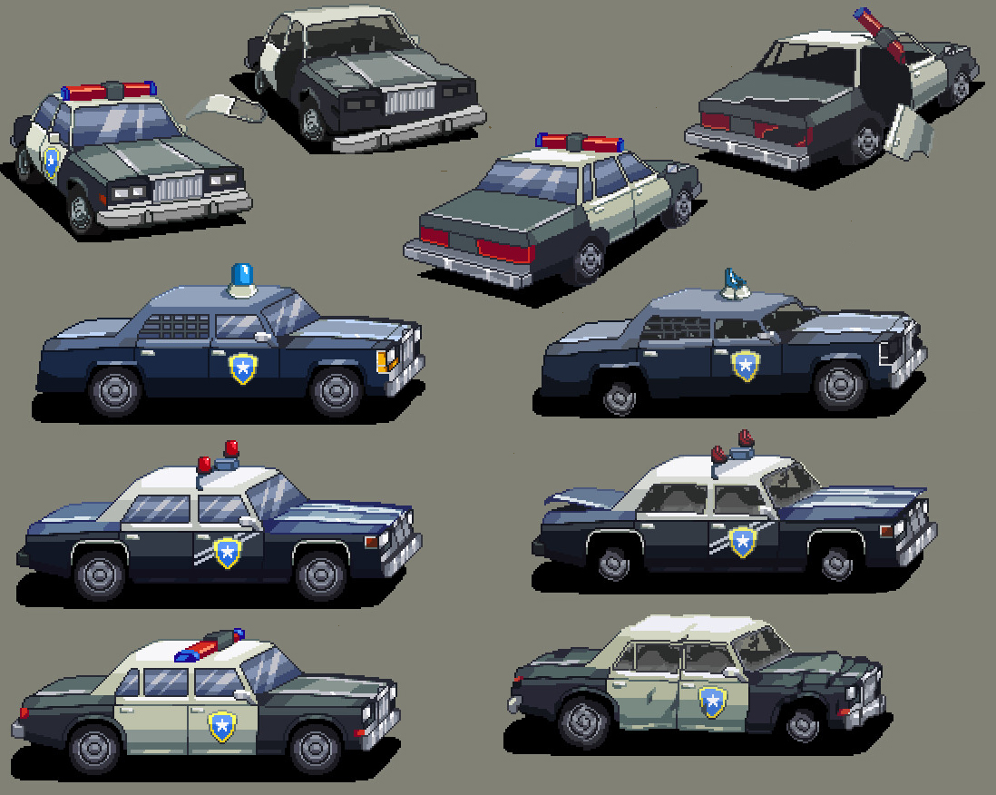 arkady-kim-police-cars | ✏️ 2D Художник - Аниматор / 2D Artist / Animation / Pixel art ✏️