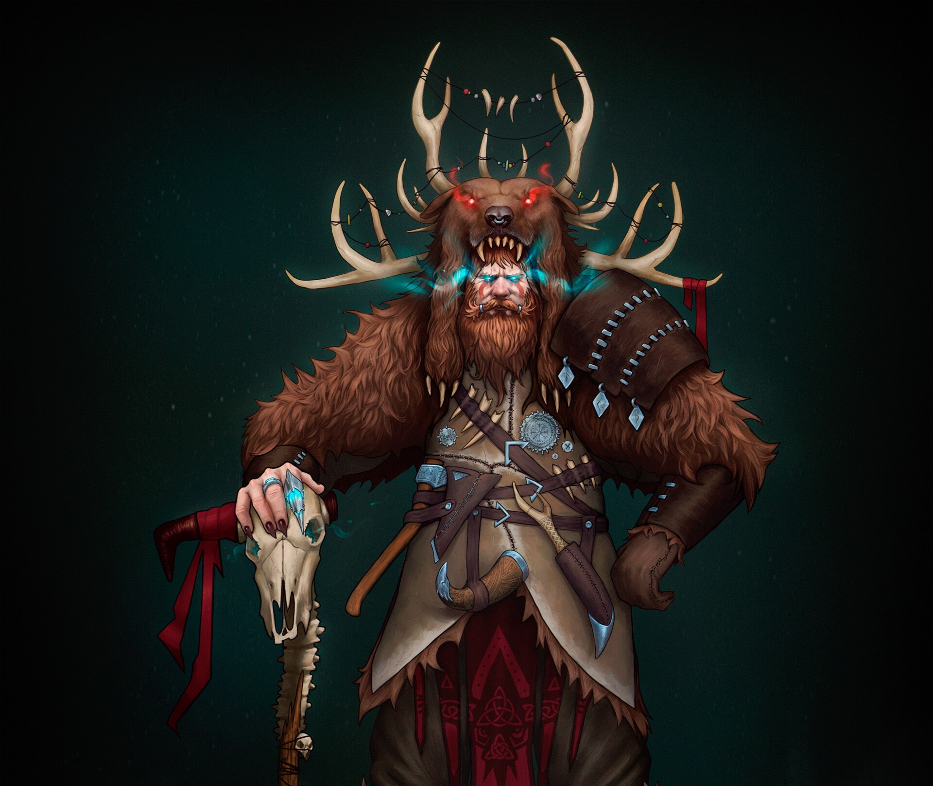 artem-aleksandrin-viking-shaman-ren2 | *2D Artist*