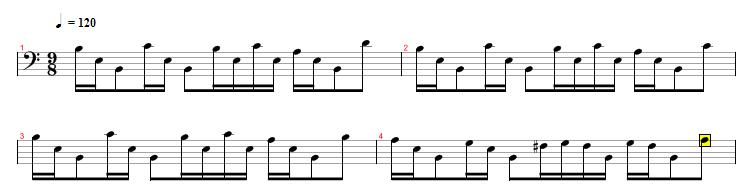 bass | Девять восьмушек