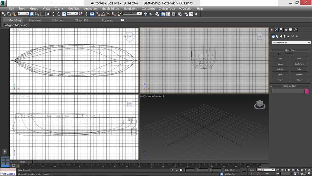 battle_ship_01_t | Низкополигональное моделирование корабля по шпангоутам в 3D Max