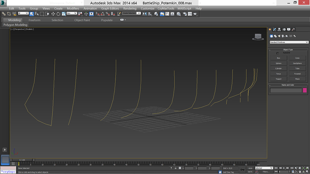 battle_ship_02_t | Низкополигональное моделирование корабля по шпангоутам в 3D Max