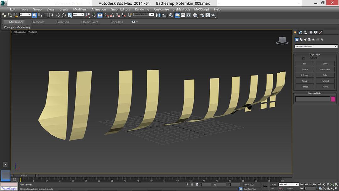 battle_ship_03_t | Низкополигональное моделирование корабля по шпангоутам в 3D Max