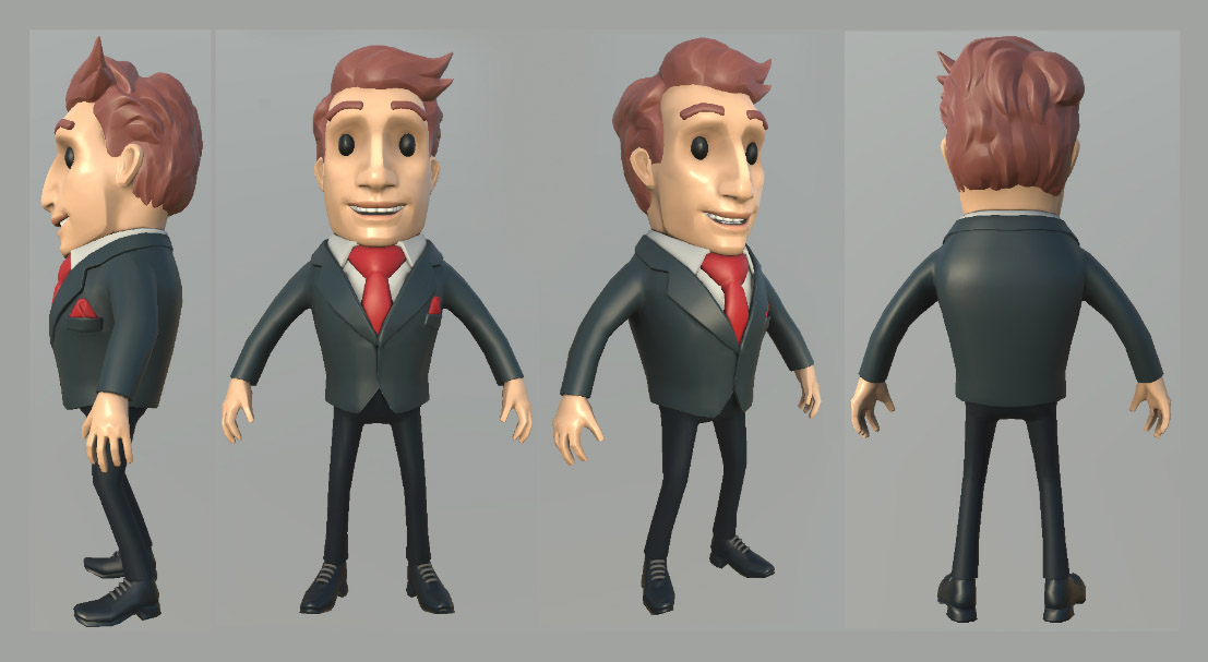 Мультяшный бизнесмен | 3D Artist / Character Artist