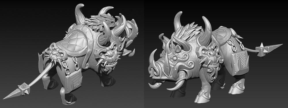 Boar_hi | 3D artist