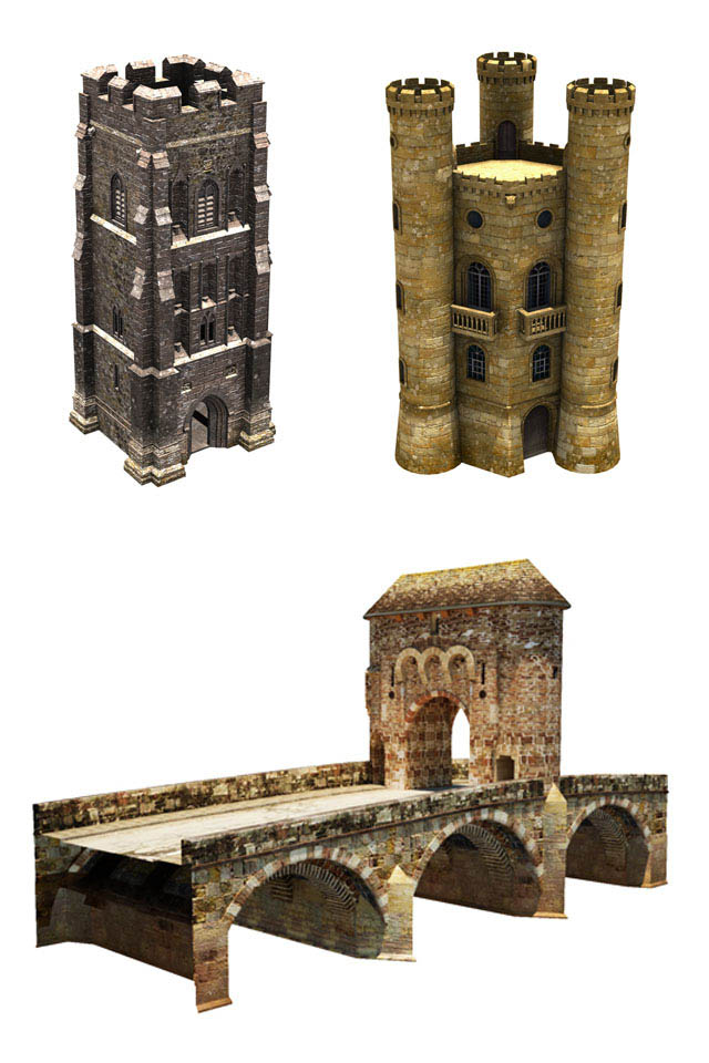 bridge_tower | 3d моделлер