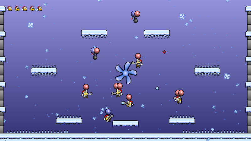 "screenshot | Balloon Snow Fight [Конкурс ""игра на одном экране""]"