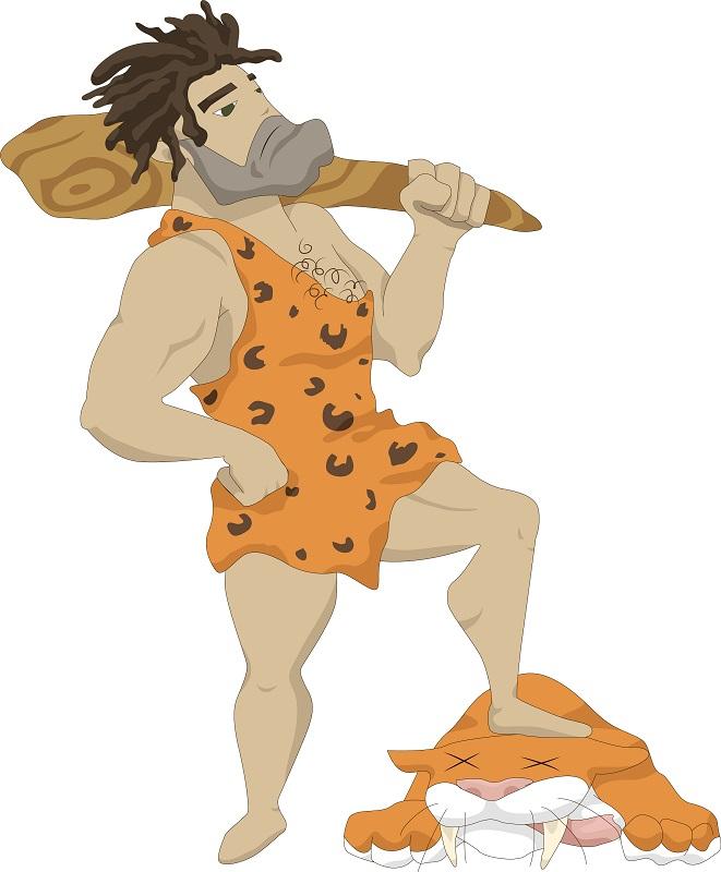пещерный человек | Tamagocha рисует