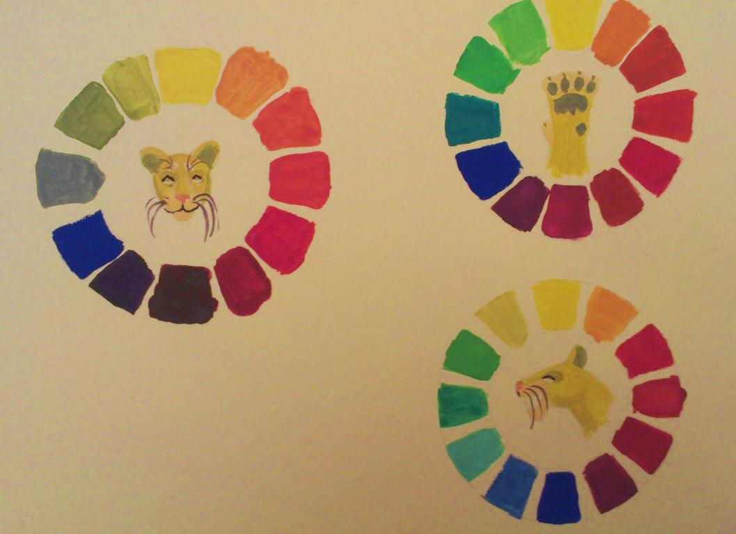 color wheel | Maltakreuz рисует львиц и не только