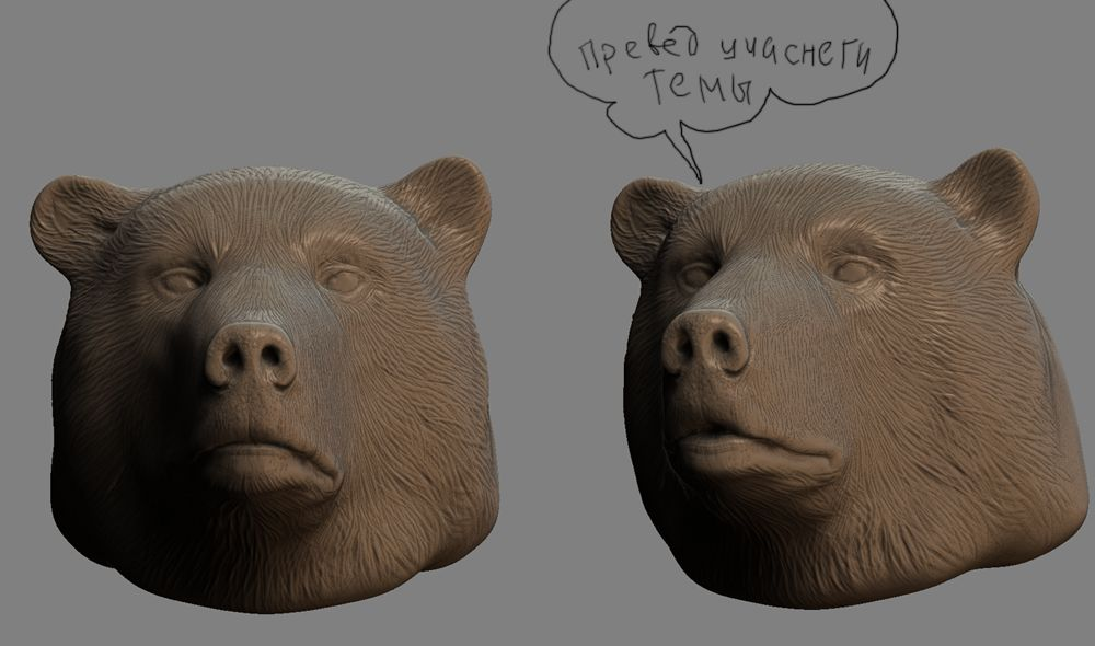 Comp Bears | Zbrush sessions=)