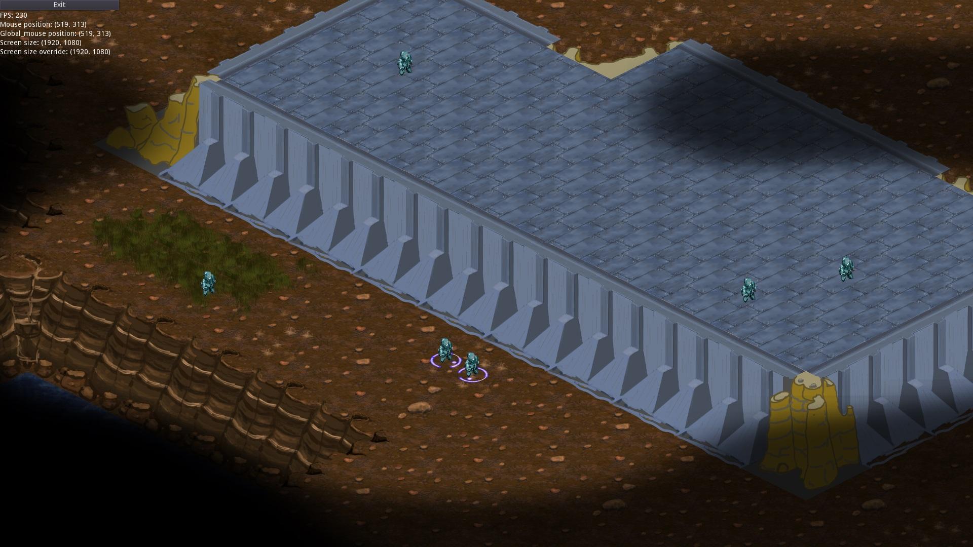 тип карты: темные земли, бетонное возвышение | Экспериментальная sci-fi RTS (переименовано)