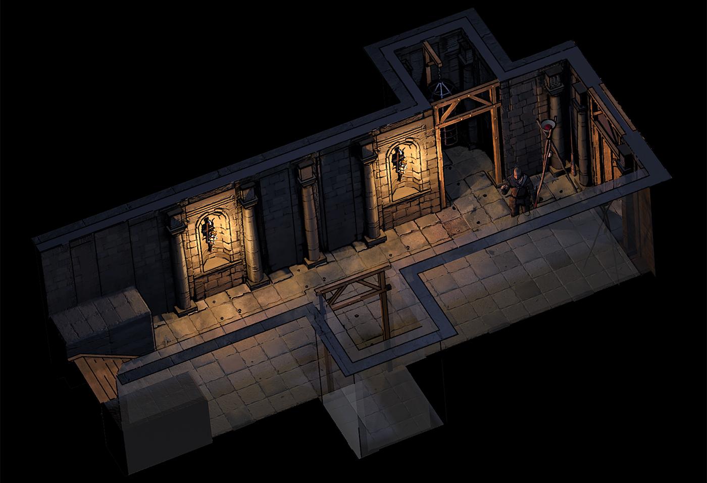 Corridor_01 copy | ✏️2D/3D Environment Artist PRG/Action/RTS/Moba/Isometric
