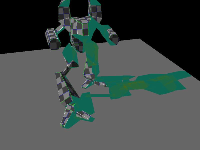 Цветовое отображение трафарета тени