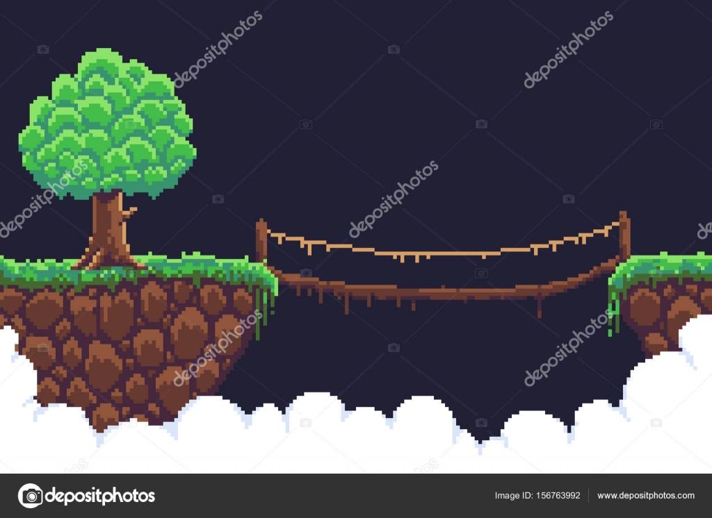 depositphotos_156763992-stock-illustration-pixel-game-background | Несколько картинок в Пиксель Арте