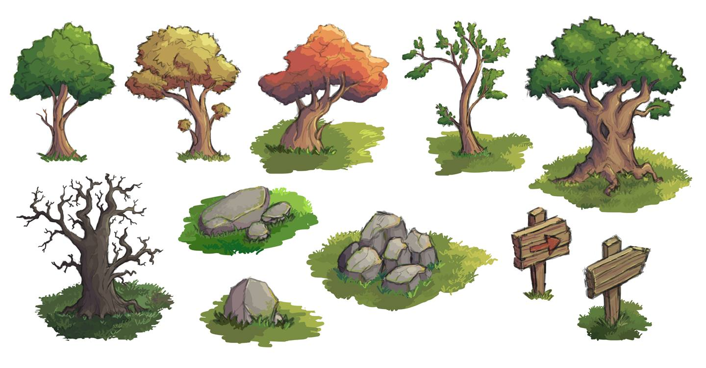 Trees and stones