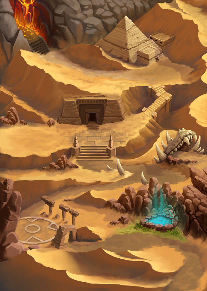 Desert-Map | [2D] Художник (environment, локации, карты, пропсы)