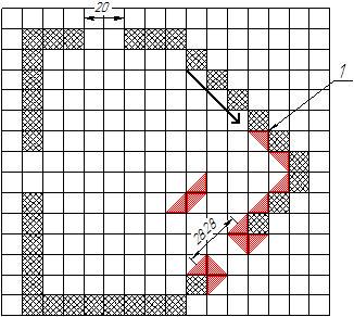 Треугольные стены на тайловой карте | Паттерны представления карты в клеточной игре.