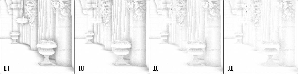 ao-distance-scale | Screen space ambient occlusion с учетом нормалей и расчет одного отражения света.