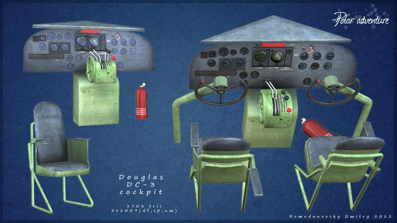 Douglas-DC-3-cockpit | Gothix Art
