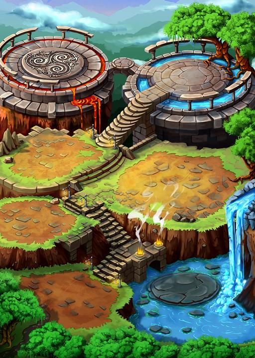 Dragon-map | [2D] Художник (environment, локации, карты, пропсы)