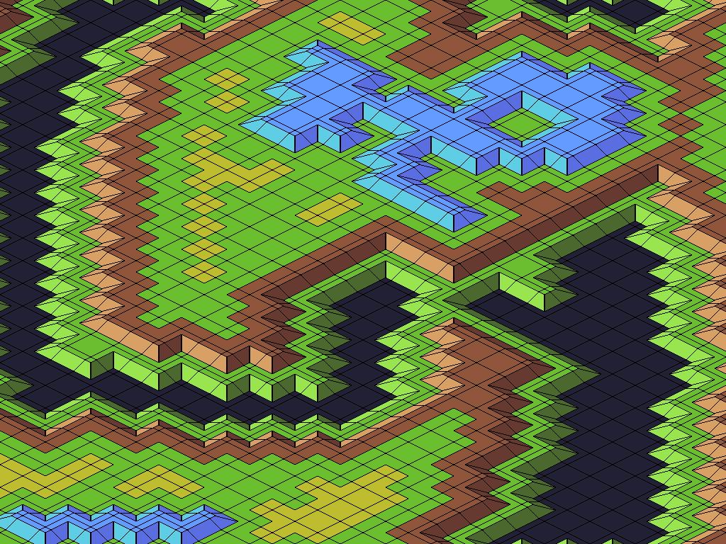 пример карты на отладочных тайлах | Экспериментальная sci-fi RTS (переименовано)