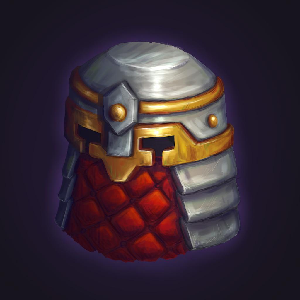 Dwarf helm | 2D CG, нужна критика и советы.