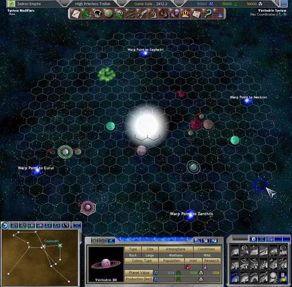 Неизвестная игра. Вид на планетную систему