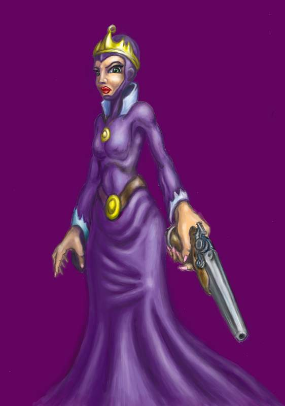 evil_queen__snowwhite__colored_by_murzik18-d6hnxti