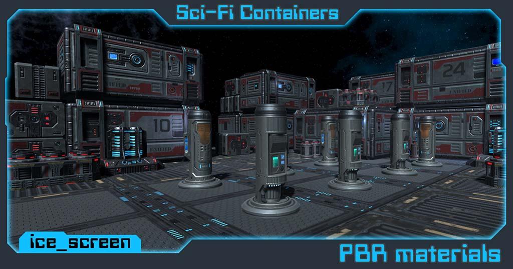 Sci_container | 3d Environment Artist - 3d окружение для игр