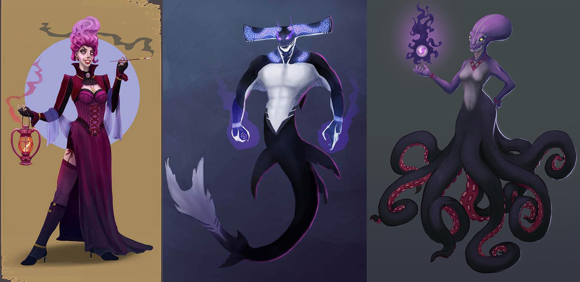 Fishes   Концепт-художник. Разные стили. 2D (в основном) + 3D