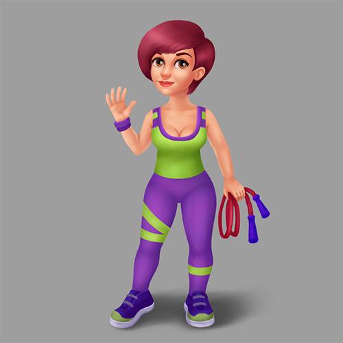 фитнес дама