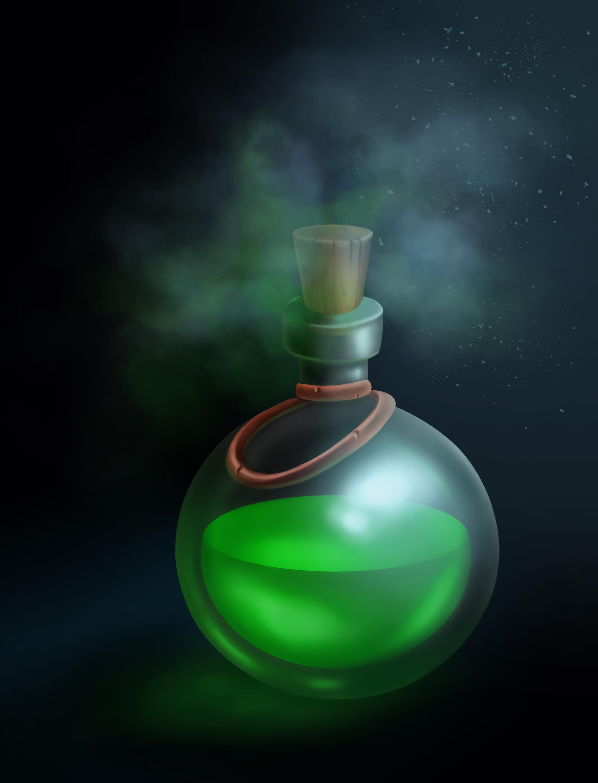 flask2   2D Casual ,Environment concept art, очень нужна оценка и мнение