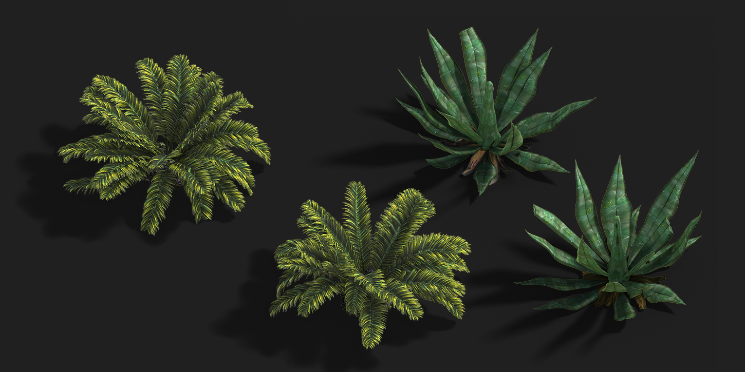 Foliage_Comp_02_50 | ✏️2D/3D Environment Artist PRG/Action/RTS/Moba/Isometric