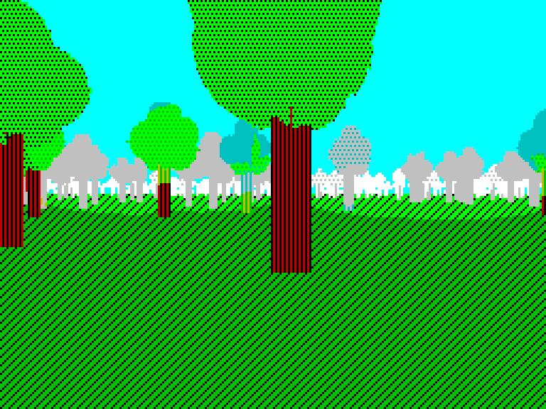 forest-2 - с туманом и блумом | Spectrum style по-современному [исследовательский проект]
