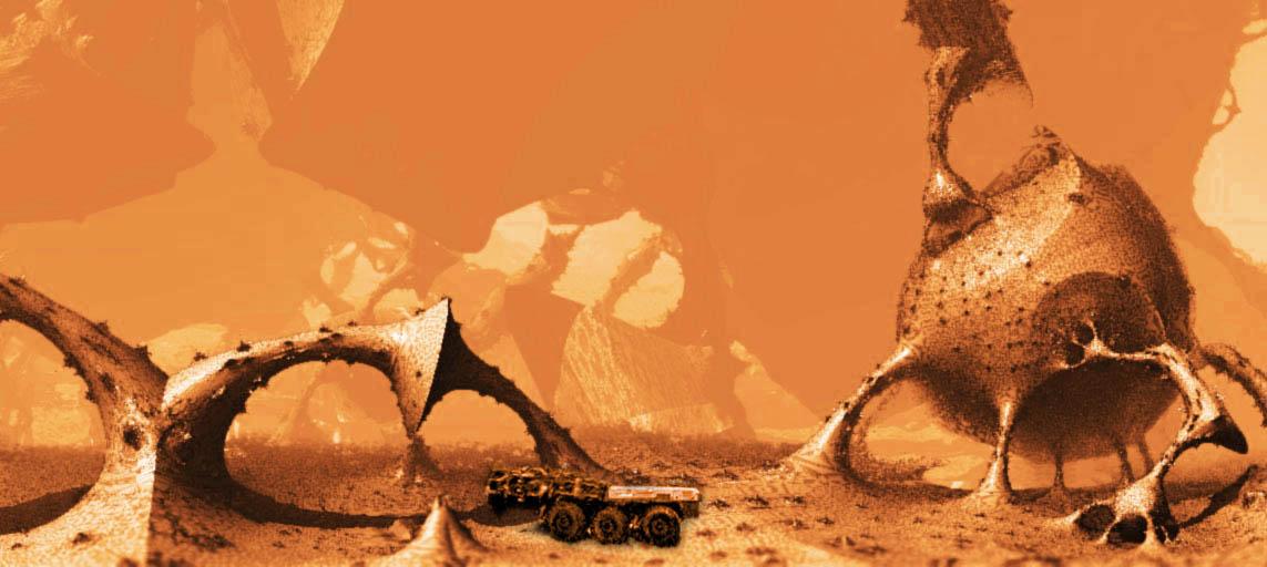 fractal-with-truck | Как лучше покрасить этот фрактальный мир?