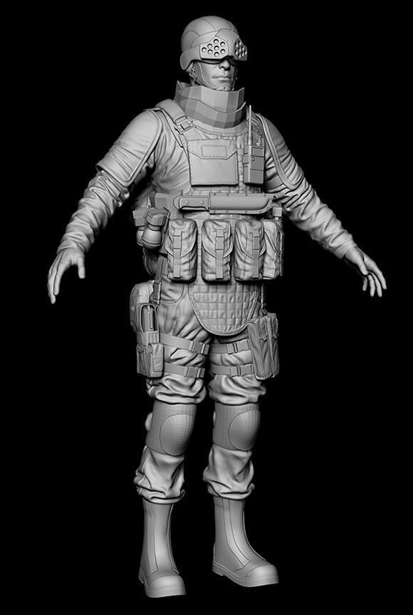 front | wip моделька солдата
