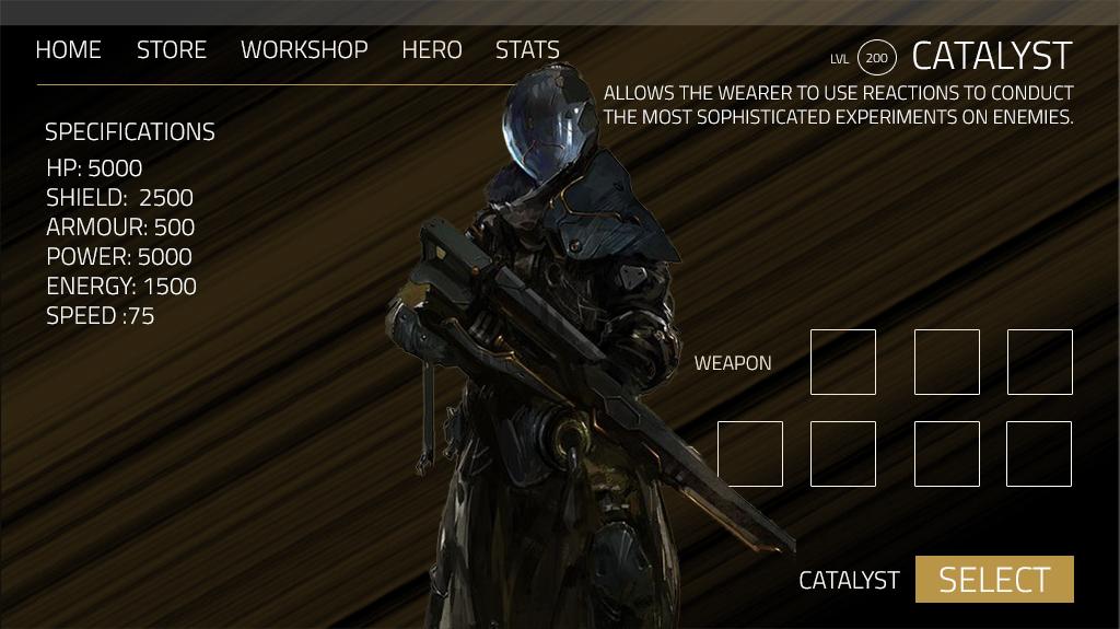 Pangea's Armament Select