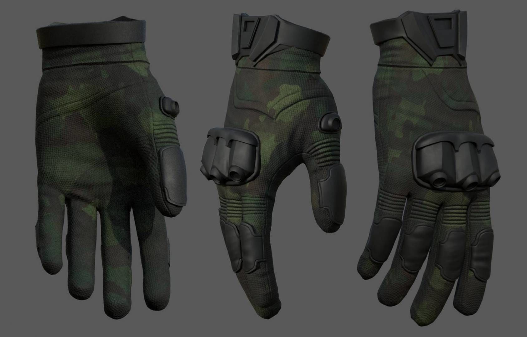 gloves-military-combat-soldier-armor-scifi-fantasy-3d-model-low-poly-obj-mtl-fbx-ma-mb | 3d artist